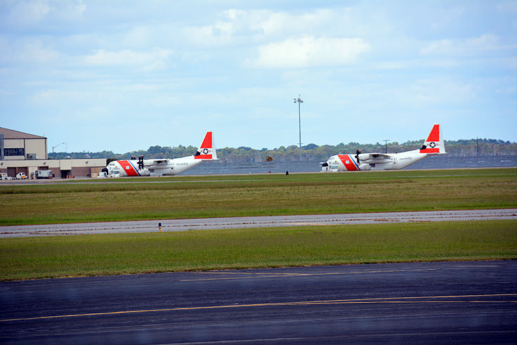 C130 aircraft at the U.S. Coast Guard Air Station Elizabeth City